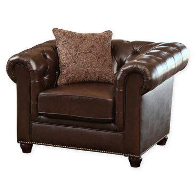 Abbyson Living Berkley Leather Arm Chair
