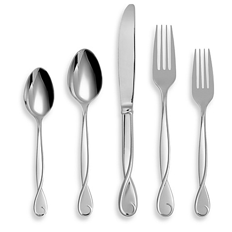 Kate spade new york belle boulevard flatware and for Bed bath and beyond kate spade