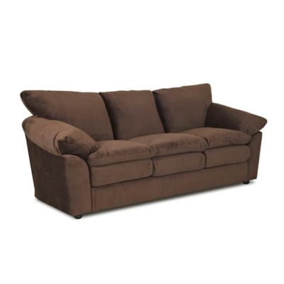 Klaussner® Heights Polyester Sofa in Chocolate - Buy Sofa Seat Cushion Covers From Bed Bath & Beyond