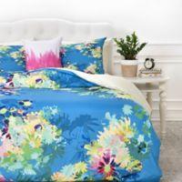 DENY Designs Bel Lefosse Design Jardim Queen Duvet Cover in Teal