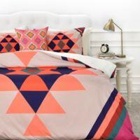 DENY Designs Wesley Bird Desert Twin Duvet Cover in Orange