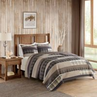 Woolrich® Winter Plains King/California King Reversible Quilt Set in Taupe