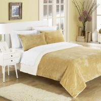 Chic Home Evelyn Twin XL 2-Piece Sherpa-Lined Blanket Set in Camel