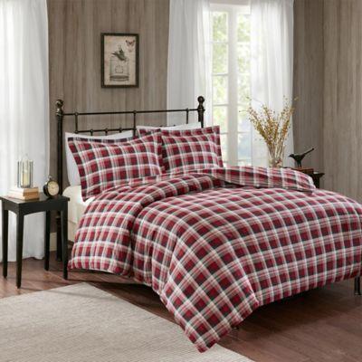set lodge wiloredplcos williamsport red comforter plaid