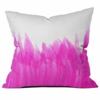 DENY Designs Allyson Johnson Brushed Square Throw Pillow in Pink