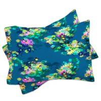 DENY Designs Bel Lefosse Design Jardim King Pillow Shams in Teal (Set of 2)