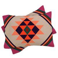 DENY Designs Wesley Bird Desert King Pillow Shams in Orange (Set of 2)