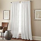 Talia 95-Inch Rod Pocket/Back Tab Window Curtain Panel in White