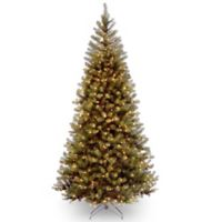 National Tree 7.5-Foot Aspen Spruce Christmas Tree with Clear Lights