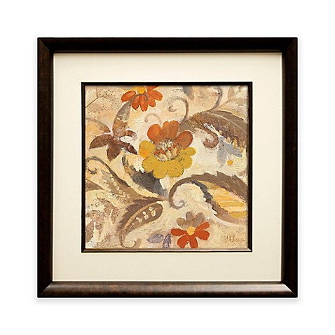Fall Paisley II Framed Wall Art - Bed Bath & Beyond