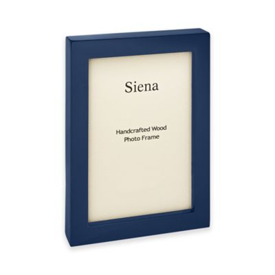 siena 4 inch x 6 inch piano finish wood picture frame in navy