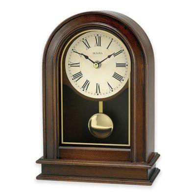 Bulova Pendulum Tabletop Clock In Walnut