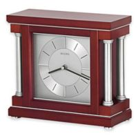 Bulova Amblance Table Clock in Wine