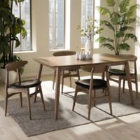 Wholesale Interiors Inc. Edna Wood 5-Piece Dining Set in Black/Brown