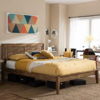 Loafey King Platform Bed in Walnut Brown