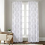 Talia 84-Inch Rod Pocket/Back Tab Sheer Window Curtain Panel in Grey