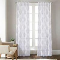 Talia 63-Inch Rod Pocket/Back Tab Sheer Window Curtain Panel in Grey