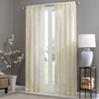 Madison Park Irina 95-Inch Rod Pocket Sheer Window Curtain Panel in Ivory