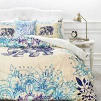 DENY Designs Rosebudstudio Wild Heart Twin Duvet Cover in Blue