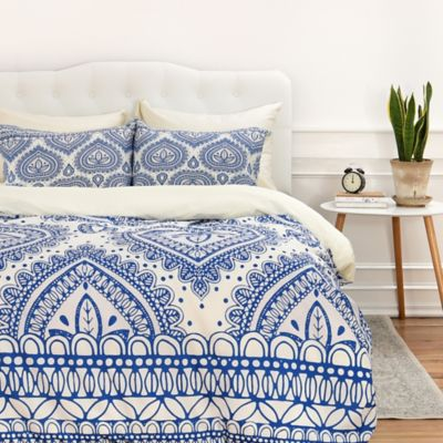 Deny Designs Aimee St Hill Decorative Blue Twin Duvet Cover In
