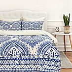Deny Designs Aimee St Hill Decorative Blue Queen Duvet Cover in Blue
