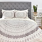 Deny Designs Iveta Abolina Winter Wheat King Duvet Cover in Grey