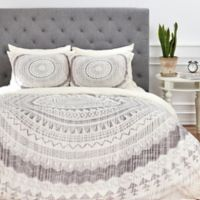 DENY Designs Iveta Abolina Winter Wheat Queen Duvet Cover in Grey