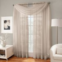 Crushed Voile Sheer Scarf Valance in Linen