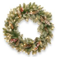 National Tree Dunhill 24-Inch Fir Pre-Lit Wreath