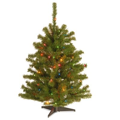 national tree 3 foot eastern spruce christmas tree with multi colored lights - Real Christmas Tree Prices