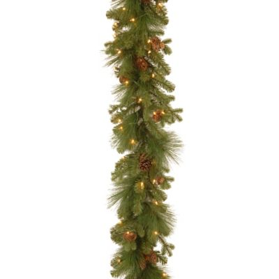 National Tree Eastwood Spruce Pre Lit Garland With Mixed Cones