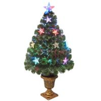 national tree company 36 inch fiber optic evergreen tree wstar lights