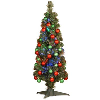 National Tree 3 Foot Fiber Optics Fireworks Ornament Tree