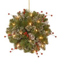 National Tree 12-Inch Glittery Mountain Spruce Kissing Ball