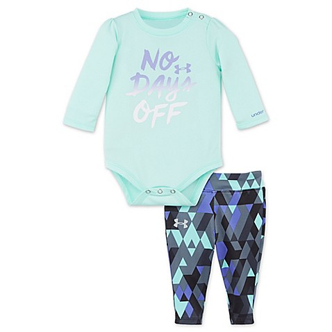 Under armour 2 piece no days off t shirt and pant set for Teal under armour shirt