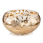 John Richard Broken Gold Glass Bowl in Clear/ Gold