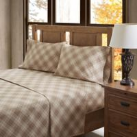 True North by Sleep Philosophy Inverness Angle Flannel King Sheet Set in Tan