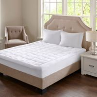 Madison Park Cloud Soft Queen Mattress Pad in White