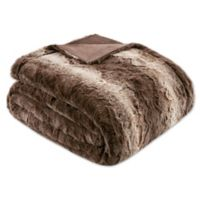 Madison Park Zuri Oversized Throw Blanket in Chocolate