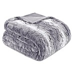 Madison Park Zuri Oversized Throw Blanket in Grey