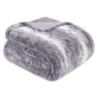 Madison Park Zuri Oversized Throw Blanket in Grey
