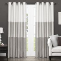 Exclusive Home Chateau 96-Inch Grommet Top Window Curtain Panel Pair in Dove Grey