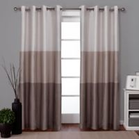 Exclusive Home Chateau 96-Inch Grommet Top Window Curtain Panel Pair in Taupe