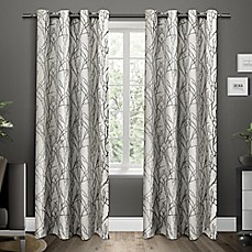 exclusive home branches grommet top window curtain panel pair
