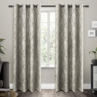 Exclusive Home Branches 84-Inch Grommet Top Window Curtain Panel Pair in Natural