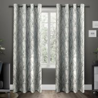 Exclusive Home Branches 96-Inch Grommet Top Window Curtain Panel Pair in Teal