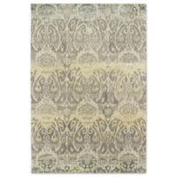 Kaleen Mercery Silkscreen 2-Foot x 3-Foot Accent Rug in Grey