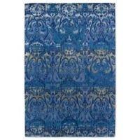 Kaleen Mercery Silkscreen 3-Foot 6-Inch x 5-Foot 6-Inch Area Rug in Azure