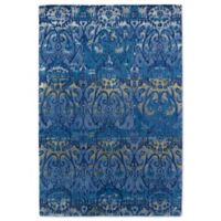 Kaleen Mercery Silkscreen 5-Foot x 7-Foot 9-Inch Area Rug in Azure