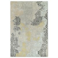 Kaleen Mercery Stencil 2-Foot x 3-Foot Accent Rug in Grey